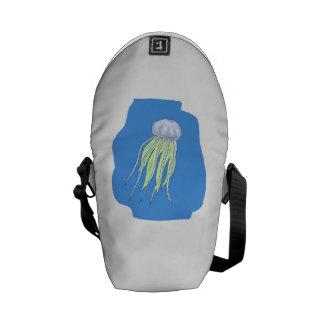 Medusas azules bolsas messenger