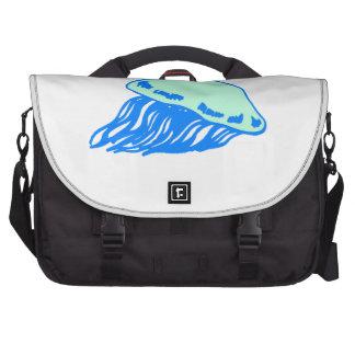 Medusas azules bolsas para ordenador