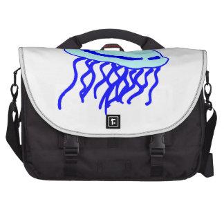 Medusas azules bolsas para portatil