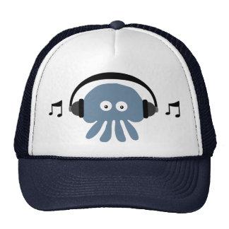 Medusas azules enrrolladas con el casquillo de DJ  Gorro