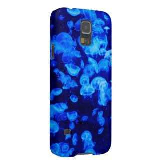 Medusas azules carcasa de galaxy s5