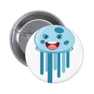 Medusas azules pin redondo 5 cm