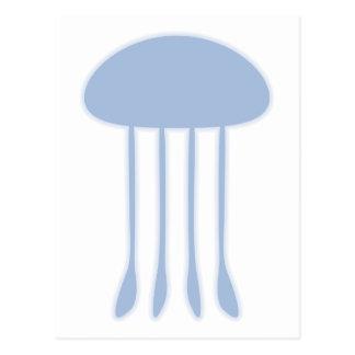 Medusas azules postal
