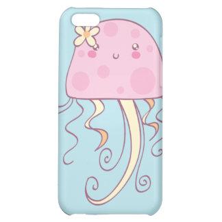 Medusas azules rosadas lindas del dibujo animado