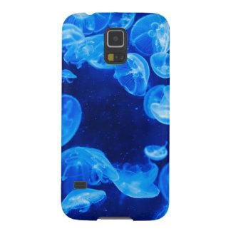 Medusas azules subacuáticas fundas para galaxy s5