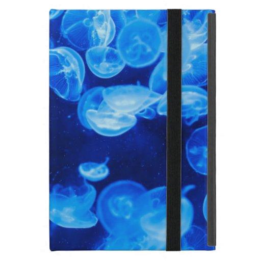 Medusas azules subacuáticas iPad mini cárcasa