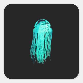 Medusas de Glowees Pegatina Cuadrada