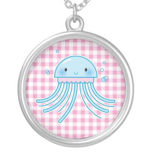 Medusas de Kawaii Colgante Redondo