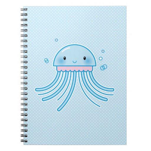 Medusas de Kawaii Cuadernos