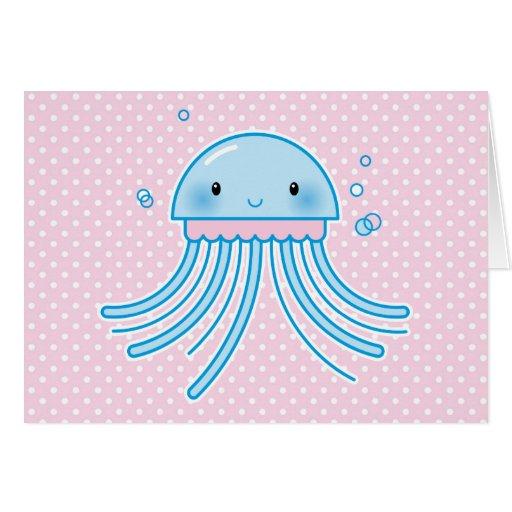 Medusas de Kawaii Felicitación