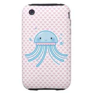 Medusas de Kawaii Tough iPhone 3 Funda