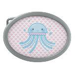 Medusas de Kawaii Hebillas Cinturon Ovales