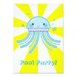 Medusas de Kawaii Invitaciones Personales