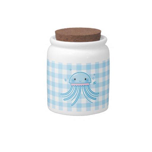 Medusas de Kawaii Plato Para Caramelo