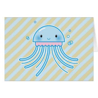 Medusas de Kawaii Tarjeta De Felicitación
