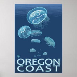 Medusas de la costa de Oregon Poster