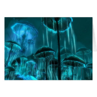 Medusas de la seta tarjeta de felicitación