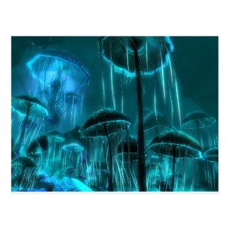 Medusas de la seta tarjetas postales