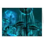 Medusas de la seta tarjetón