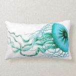 Medusas de la turquesa náuticas/almohada del Lumba