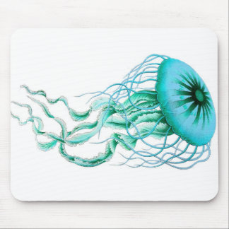 Medusas de la turquesa náuticas cojín de ratón de