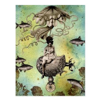 Medusas de Steampunk Tarjetas Postales