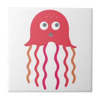 Medusas del dibujo animado teja cerámica