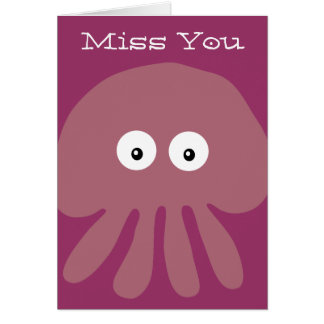 Medusas del dibujo animado Srta rosadas lindas Yo Felicitación