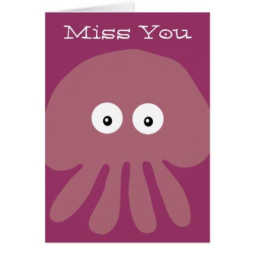 Medusas del dibujo animado/Srta. rosadas lindas Yo Felicitación
