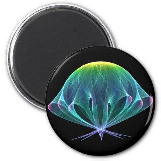 Medusas del fractal imán redondo 5 cm