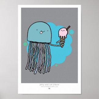 Medusas e impresión del helado A4 Impresiones