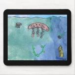 Medusas en el mar por el kolohe Nick del lil Alfombrilla De Ratones