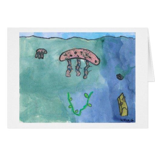 Medusas en el mar por el kolohe Nick del lil Felicitaciones