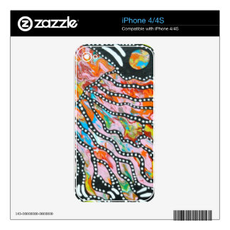 Medusas innumerables del espejismo del color iPhone 4S skins