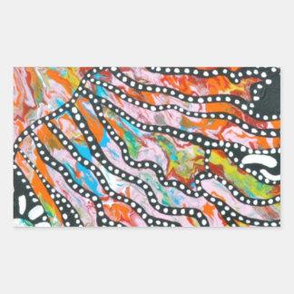 Medusas innumerables del espejismo del color pegatina rectangular