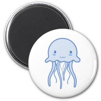 Medusas lindas azules imán redondo 5 cm