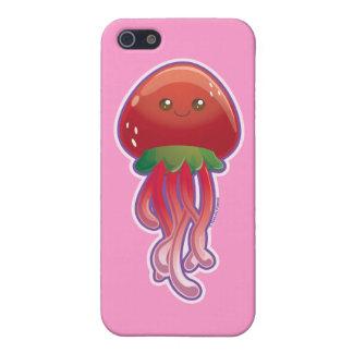 Medusas lindas de la fresa iPhone 5 cárcasa