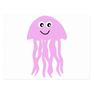 Medusas lindas del dibujo animado tarjetas postales