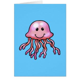 Medusas lindas tarjeta de felicitación