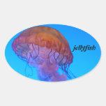 Medusas Pegatina Ovaladas Personalizadas