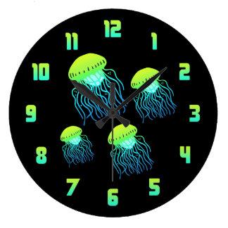 Medusas Reloj Redondo Grande