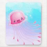 Medusas rosadas alfombrilla de ratones
