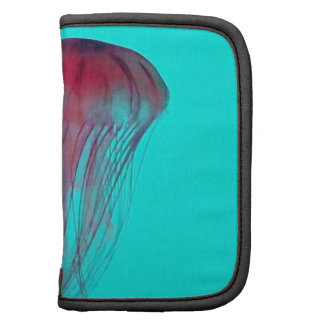 Medusas rosadas de Fuschia en verde azul de la agu Planificador