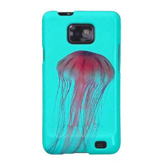 Medusas rosadas de Fuschia en verde azul de la Galaxy SII Funda