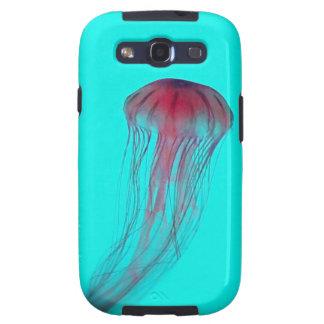 Medusas rosadas de Fuschia en verde azul de la Samsung Galaxy S3 Funda
