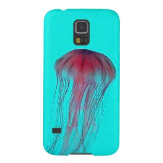 Medusas rosadas de Fuschia en verde azul de la Funda De Galaxy S5