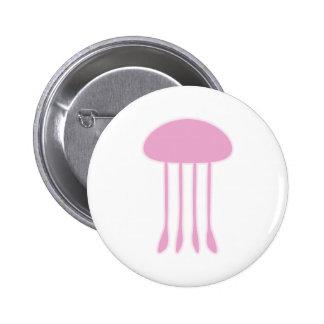 Medusas rosadas pin redondo 5 cm