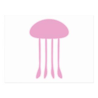 Medusas rosadas postales