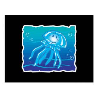 medusas sonrientes felices postales