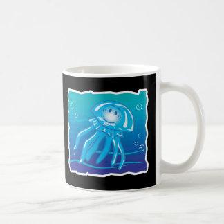 medusas sonrientes felices taza